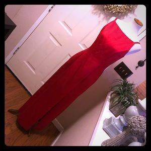 Stunning Fire Red Late Edition Formal Gown